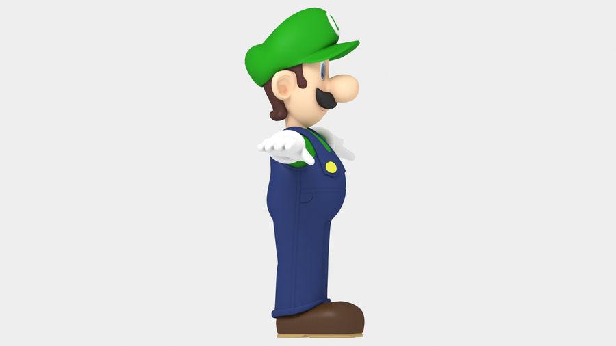 Personaggio Luigi truccato royalty-free 3d model - Preview no. 11