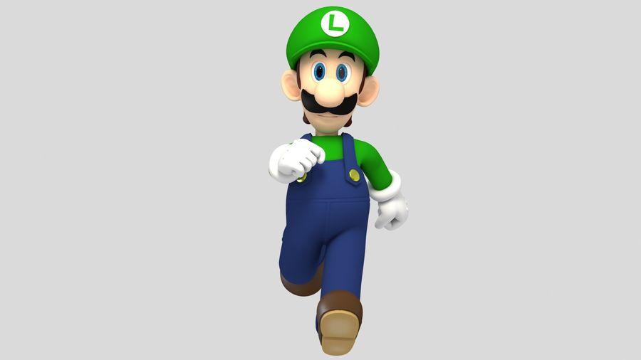 Personaggio Luigi truccato royalty-free 3d model - Preview no. 6