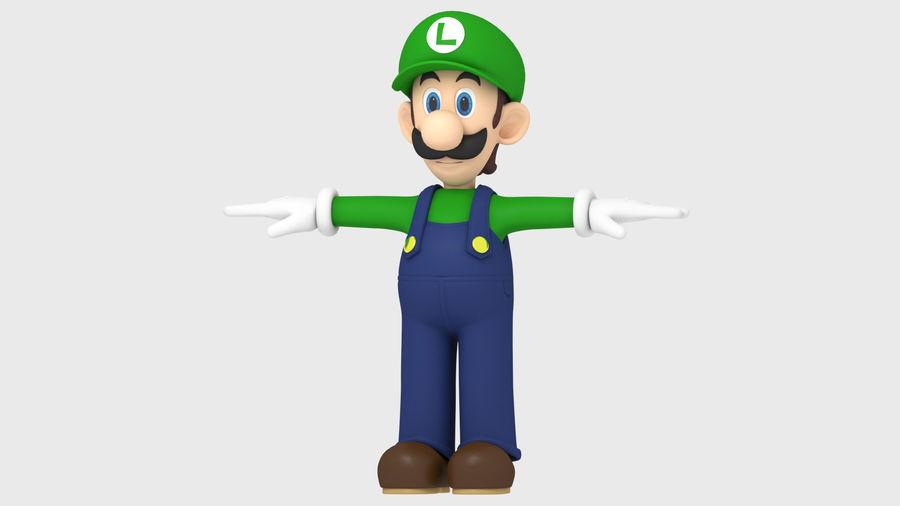 Personaggio Luigi truccato royalty-free 3d model - Preview no. 9