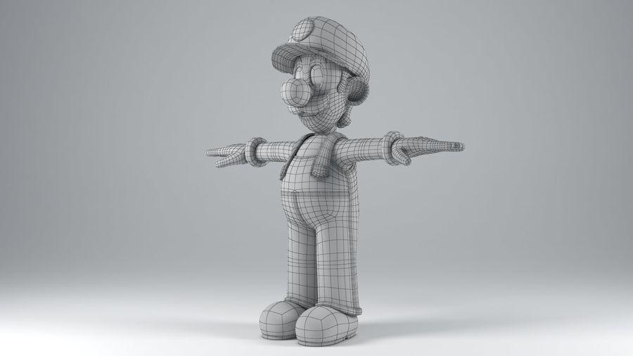 Personaggio Luigi truccato royalty-free 3d model - Preview no. 19