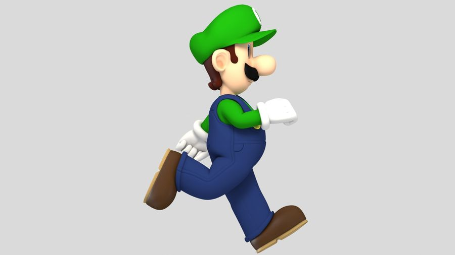 Personaggio Luigi truccato royalty-free 3d model - Preview no. 7