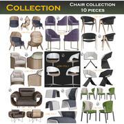 椅子收藏10件 3d model