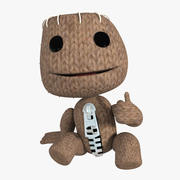 Sackboy character from game rigged 3d model
