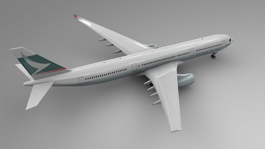 Airbus A330-300 Cathay Pacific L335 royalty-free 3d model - Preview no. 5
