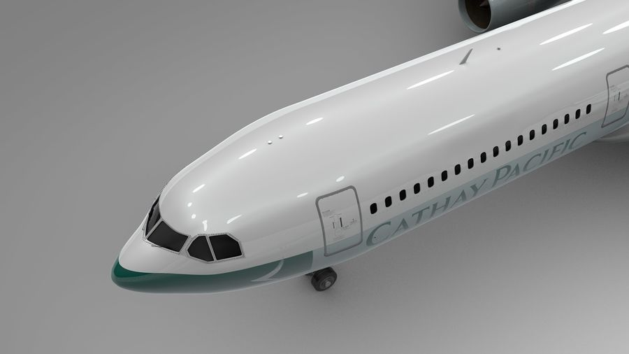 Airbus A330-300 Cathay Pacific L335 royalty-free 3d model - Preview no. 9