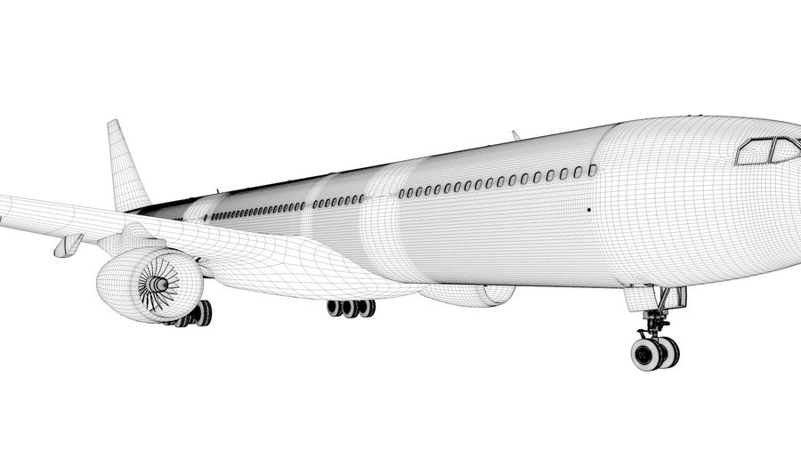 Airbus A330-300 Cathay Pacific L335 royalty-free 3d model - Preview no. 21