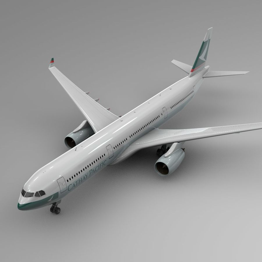 Airbus A330-300 Cathay Pacific L335 royalty-free 3d model - Preview no. 1