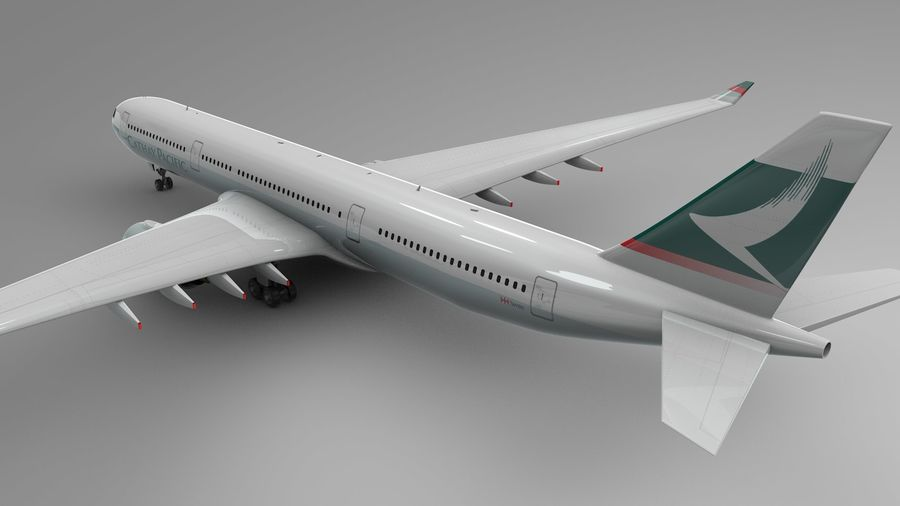 Airbus A330-300 Cathay Pacific L335 royalty-free 3d model - Preview no. 8