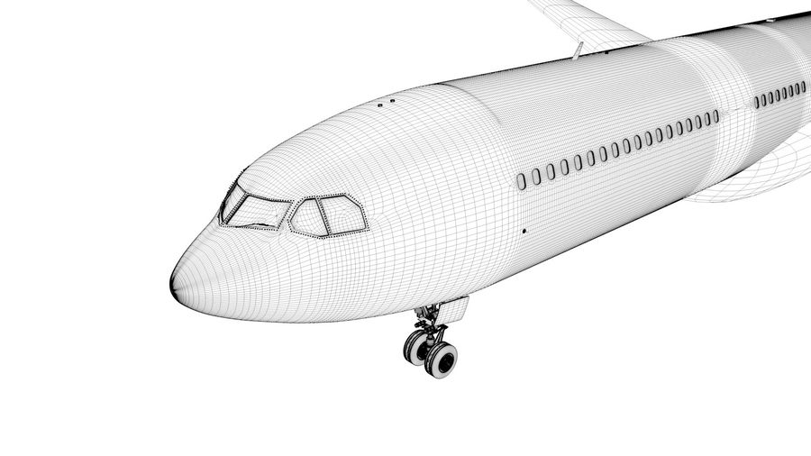 Airbus A330-300 Cathay Pacific L335 royalty-free 3d model - Preview no. 17