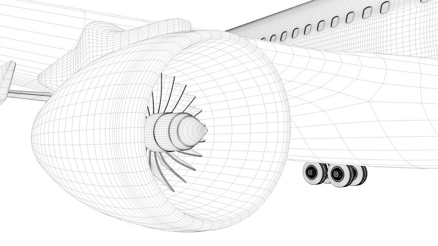 Airbus A330-300 Cathay Pacific L335 royalty-free 3d model - Preview no. 22