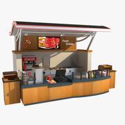 Stoisko żywności 3d model