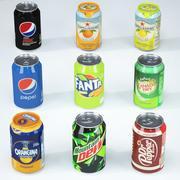 Ensemble de boissons gazeuses 3d model