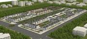 Piccolo paesaggio urbano di base 3d model