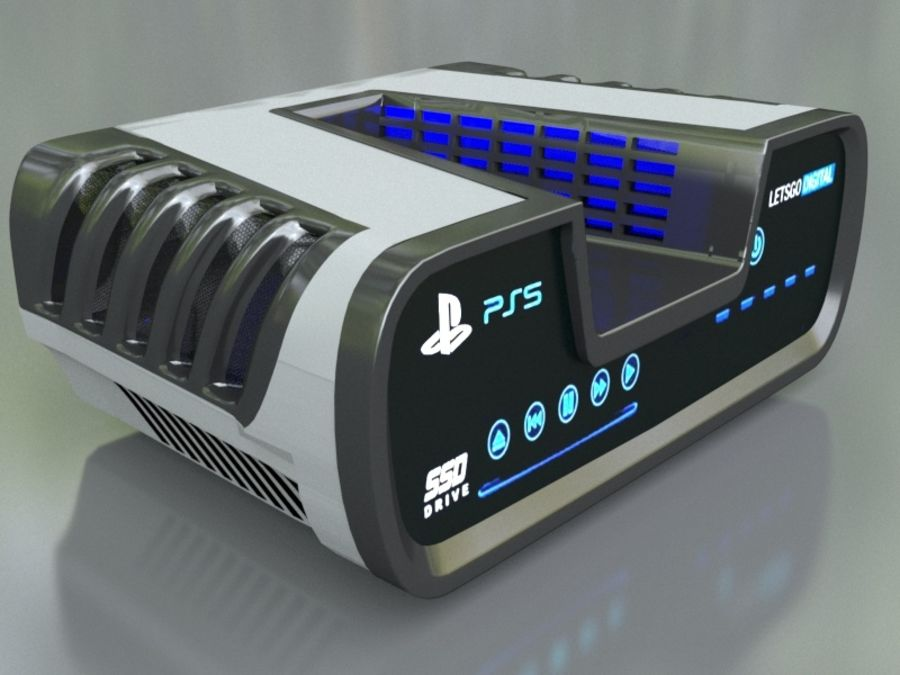 ps5 royalty-free 3d model - Preview no. 10
