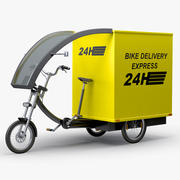 Cargo Delivery Bike 3d model
