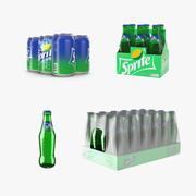 Sprite Flaskor och paketkollektion 3d model