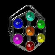 Szata pikselowa Statyczne światło efektowe na podstawie LEDATT 3d model