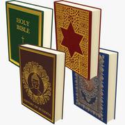 Verzameling religieuze boeken 3d model