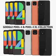Colección Google Pixel 4 y Pixel 4 XL modelo 3d