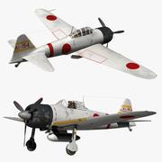 三菱A6M零 3d model