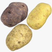 3 Potatoes - Clean Dirty Purple 3d model