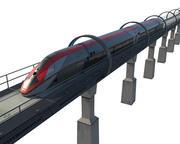 Koncept Levitation höghastighetståg 3d model