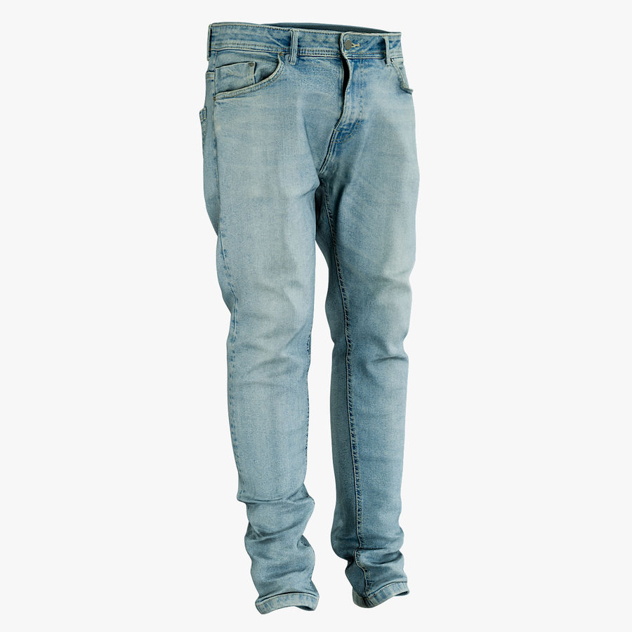Jeans azul royalty-free modelo 3d - Preview no. 1