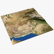 アフガニスタンの3Dマップ 3d model
