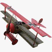 福克DR1三翼飞机WW1 3d model