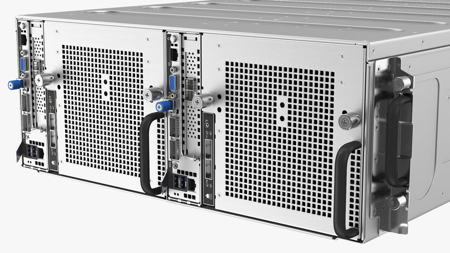 HPE Cloudline CL5200 Server Closed royalty-free 3d model - Preview no. 11