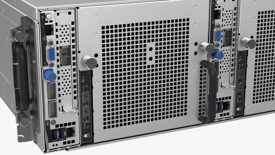HPE Cloudline CL5200 Server Closed royalty-free 3d model - Preview no. 12