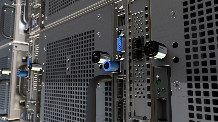 HPE Cloudline CL5200 Server Closed royalty-free 3d model - Preview no. 5