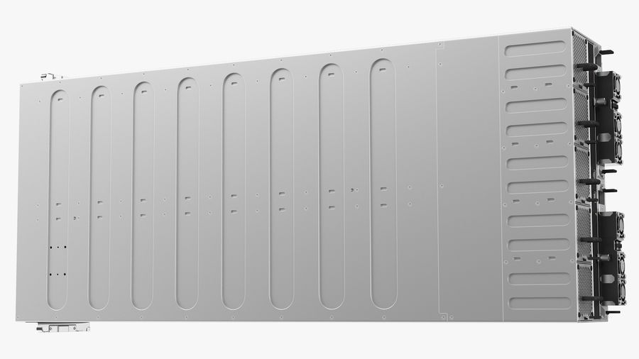 HPE Cloudline CL5200 Server Closed royalty-free 3d model - Preview no. 17