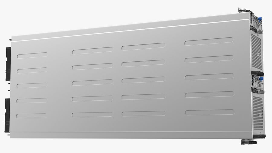 HPE Cloudline CL5200 Server Closed royalty-free 3d model - Preview no. 18