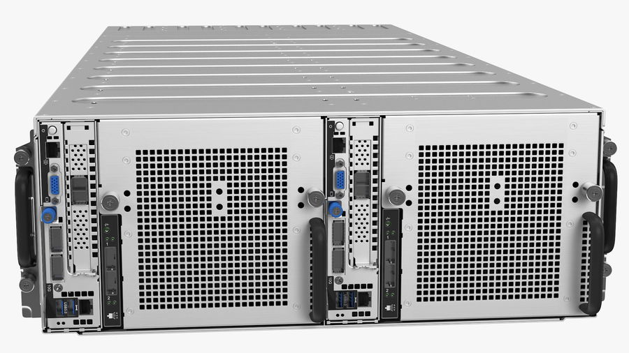 HPE Cloudline CL5200 Server Closed royalty-free 3d model - Preview no. 10