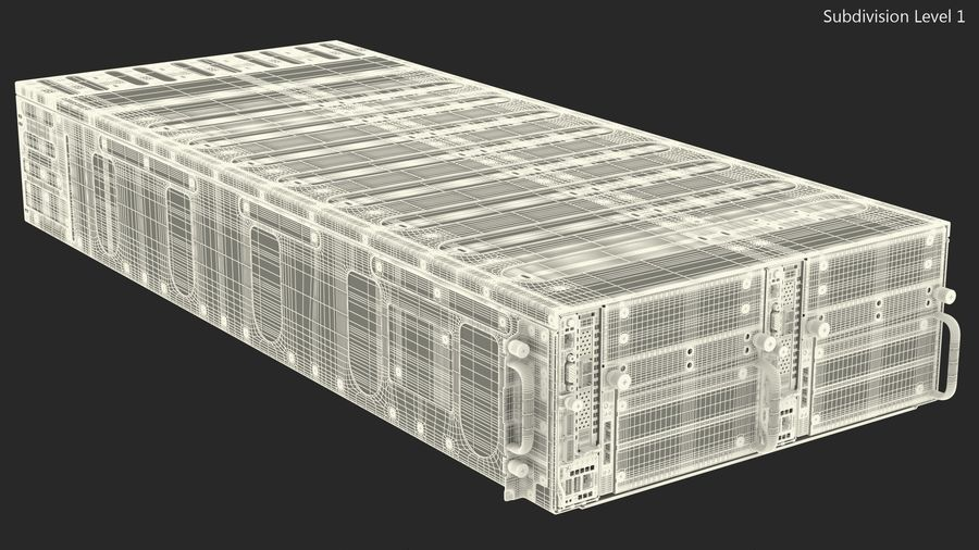 HPE Cloudline CL5200 Server Closed royalty-free 3d model - Preview no. 24