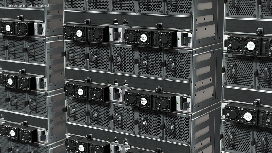 HPE Cloudline CL5200 Server Closed royalty-free 3d model - Preview no. 7