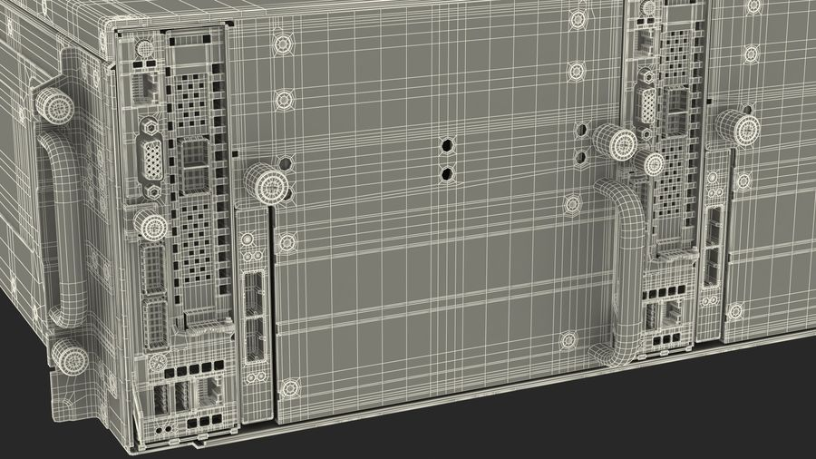 HPE Cloudline CL5200 Server Closed royalty-free 3d model - Preview no. 34