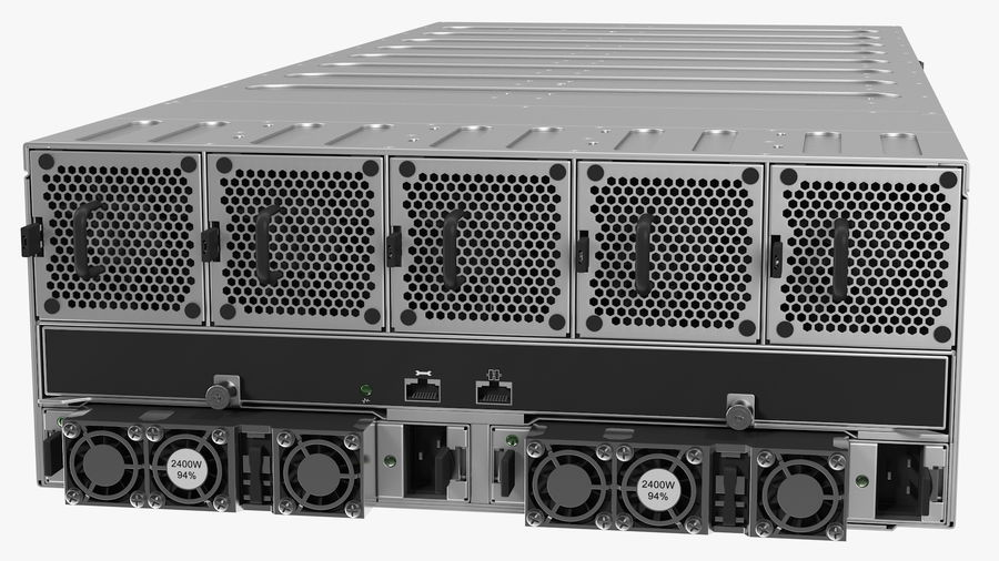 HPE Cloudline CL5200 Server Closed royalty-free 3d model - Preview no. 9
