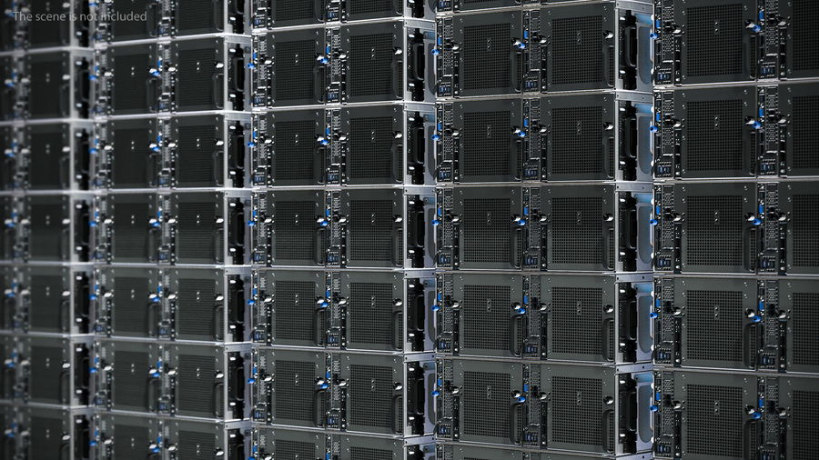 HPE Cloudline CL5200 Server Closed royalty-free 3d model - Preview no. 3