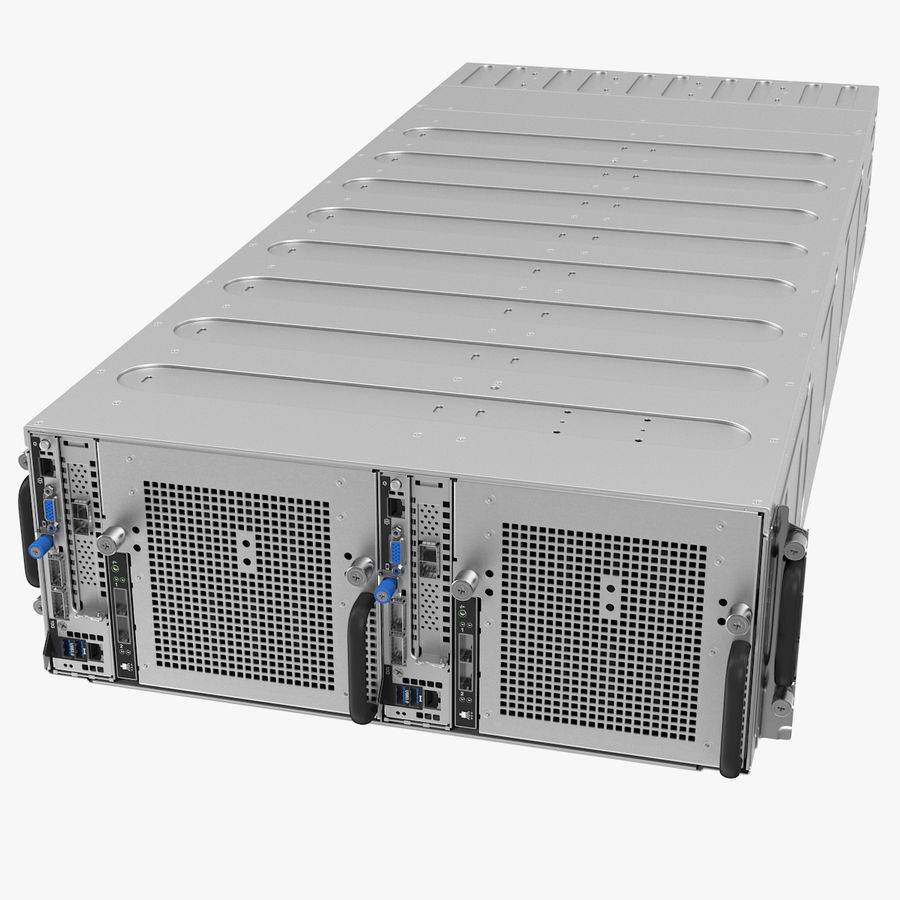 HPE Cloudline CL5200 Server Closed royalty-free 3d model - Preview no. 1
