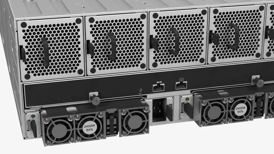 HPE Cloudline CL5200 Server Closed royalty-free 3d model - Preview no. 15