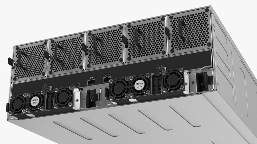 HPE Cloudline CL5200 Server Closed royalty-free 3d model - Preview no. 13