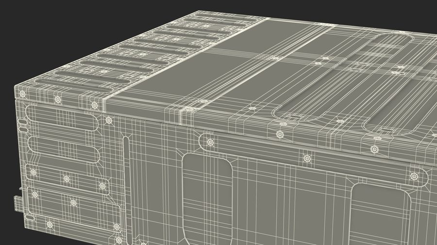 HPE Cloudline CL5200 Server Closed royalty-free 3d model - Preview no. 33