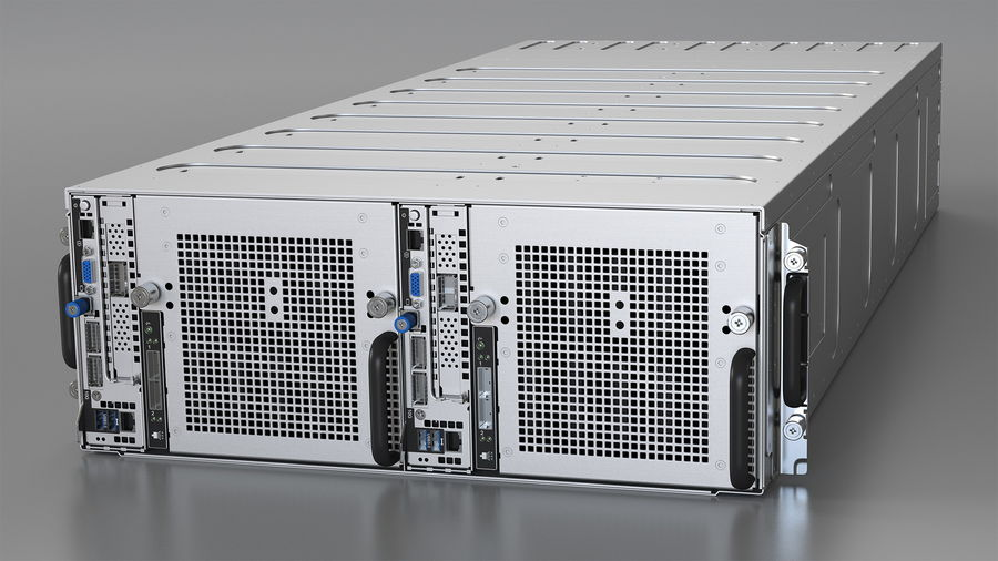 HPE Cloudline CL5200 Server Closed royalty-free 3d model - Preview no. 2