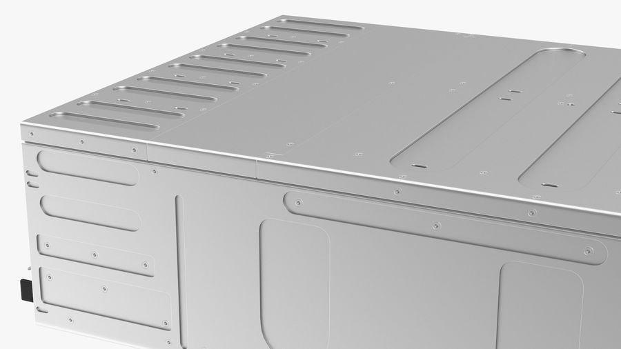 HPE Cloudline CL5200 Server Closed royalty-free 3d model - Preview no. 19