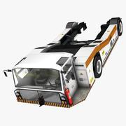 Tracteur de remorquage de pont d'aéroport 3d model