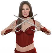 Elektra Natchios - RIGGED 3d model