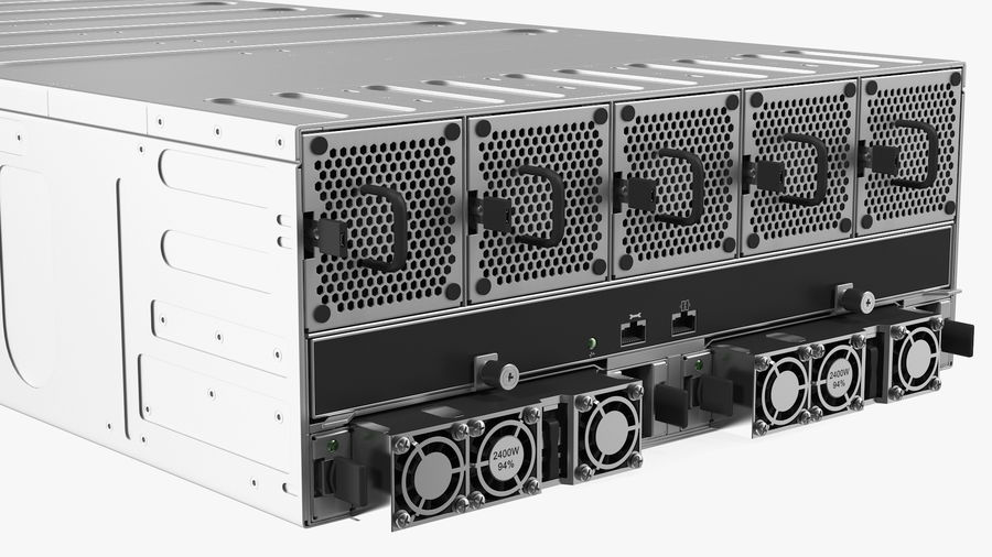 HPE Cloudline CL5200 Server Opened with Disks royalty-free 3d model - Preview no. 14