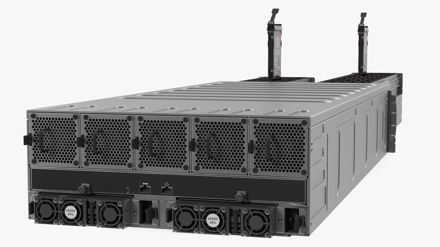 HPE Cloudline CL5200 Server Opened with Disks royalty-free 3d model - Preview no. 12